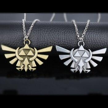 Colgante de la Trifuerza The Legend of Zelda, collares con eslabones oscuros, Hylian collar de Metal, joyería Legend of Zelda, regalo para hombres y mujeres, 30