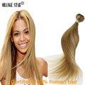 Дешевые Перуанский Девы Волос Прямой Необработанные Перуанские Пучки Волосков Человека 1 ШТ. Перуанский Прямые Волосы-Блондинка, Волосы Девственницы GS111