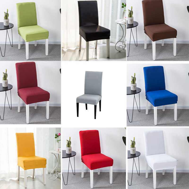 White Dining Room Chair Covers: Chair Cover Spandex Stretch Elastic Slipcovers Chair