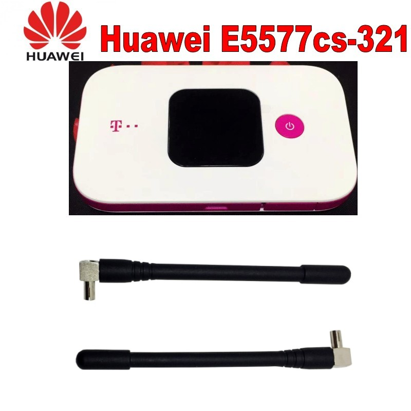 (+2pcs 4g antenna )Original Unlock 4G Wireless Router LTE Mobile WiFi Router with SIM Card Slot Huawei E5577Cs-321 wholesale original unlock huawei e5786 300mbps 4g wireless router with sim card slot and 4g lte cat6 mobile wifi router