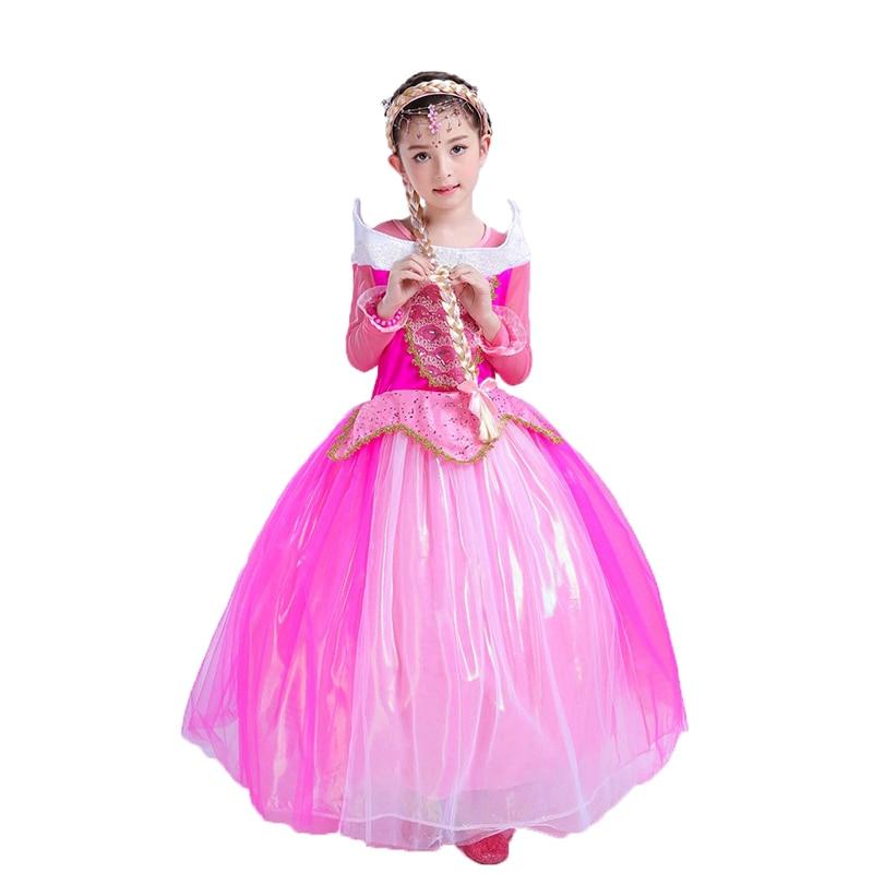 Rapunzel Tangled Princess long wig Headband Hair Cosplay Weaving Braid Tangled Rapunzel Princess cosplay Animation wig for kids