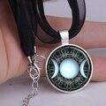 Pingente de vidro de moda colar triplo deusa da lua jóias fases da lua Wiccan pagan espiritual colar YLQ0125
