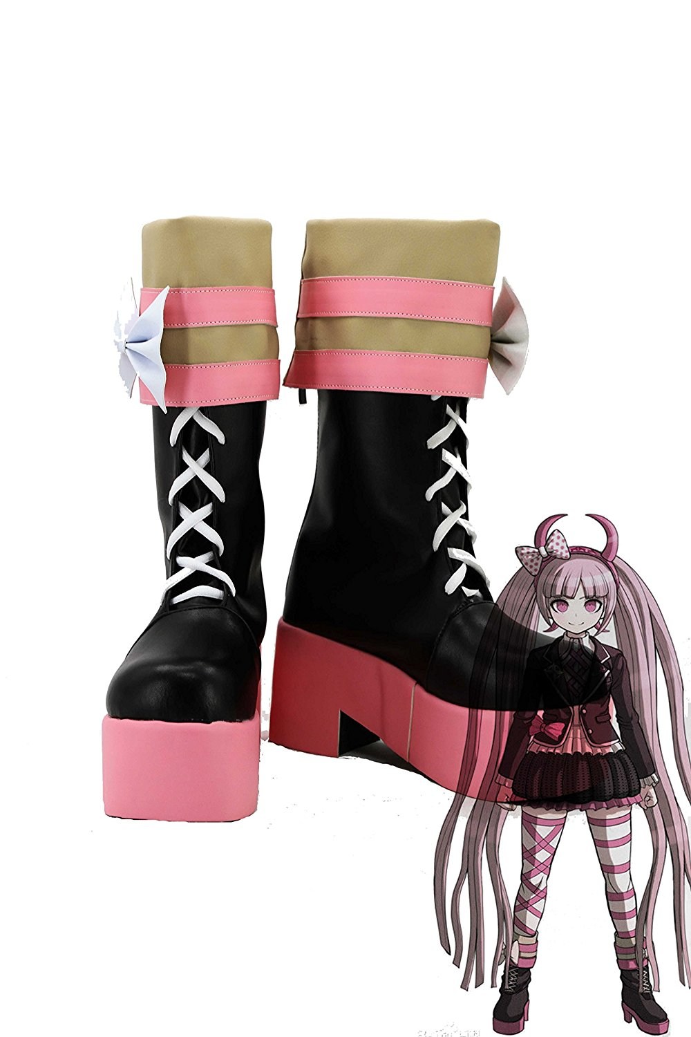 Kotoko Utsugi Shoes Cosplay Danganronpa Kotoko Utsugi Cosplay Shoes Boots Custom Made for Unisex Any Size