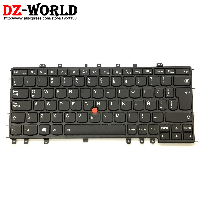 New Original for Lenovo Thinkpad S1 Yoga Yoga 12 Latin Spanish Backlit Backlight Keyboard Teclado 04Y2623 04Y2919 SN20A45461 new original for lenovo thinkpad yoga 260 bottom base cover lower case black 00ht414 01ax900