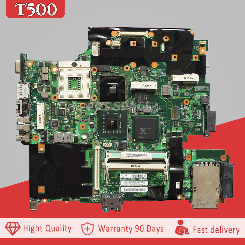 YTAI 63Y1437 For Lenovo T500 Laptop Motherboard 63Y1437 DDR3 Slot + 4 Pieces Video Memory mainboard fully tested цена
