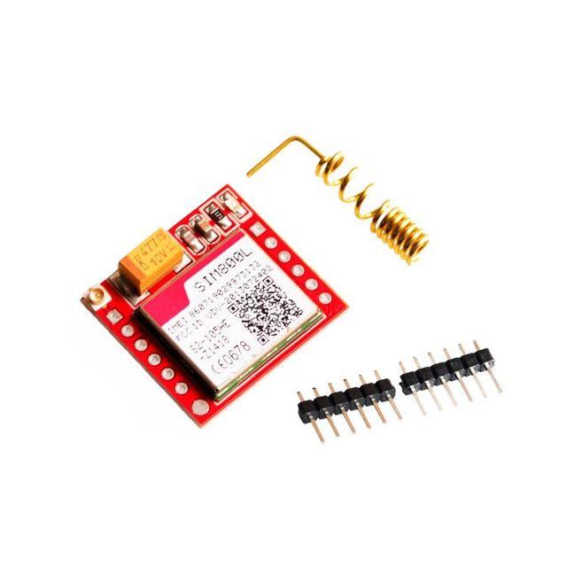 Kleinste SIM800L GPRS Gsm-modul MicroSIM Karte Trägerplatte Quad-band Seriellen