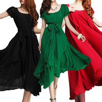 Summer Style Plus Size Women Clothing Vestidos Long Maxi Dress Evening Party Dresses Comfortable Chiffon