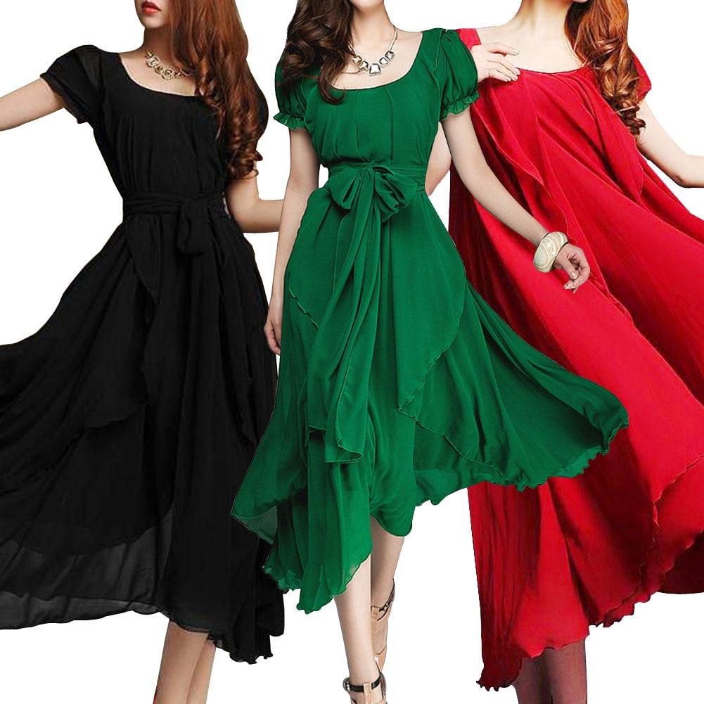 Summer Style Plus Size Women Clothing Vestidos Long Maxi Dress ...