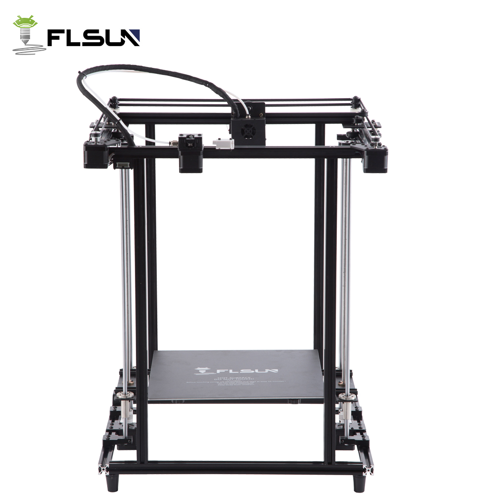 2018 Flsun date 3D Pré-assemblée Imprimante Grande Zone D'impression Grand Taille 320*320*460mm Haute vitesse