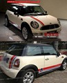 Mini mini cooper car against garland side skirts on the runway line body converted mini posts