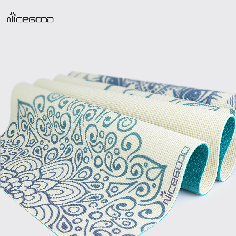767ca83961b88 Detail Feedback Questions about NICEGOOD Yoga Mat Printed 5mm PVC Sports  Tapete Yoga Fitness Pilates Pads Double Side Color Environmental Non Slip Gym  Mat ...