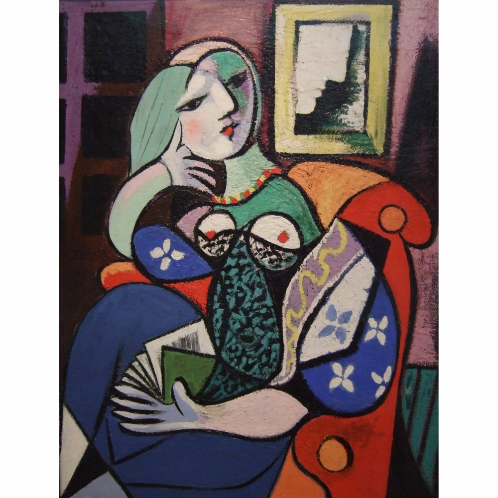Pictures diy painting by numbers Picasso works woman with book living room magnificent scenery bedroom restaurant decoration 40X image