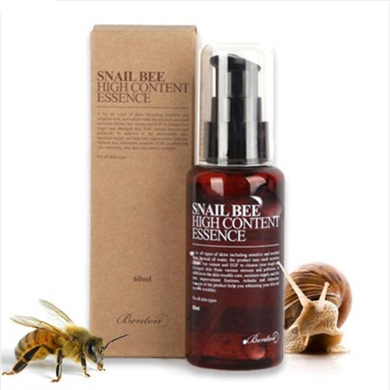 BENTON Snail Bee High Content Essence 60ml Face Serum EGF Essence Skin Care Anti Wrinkles Treatment Scar Cream Korea Cosmetics
