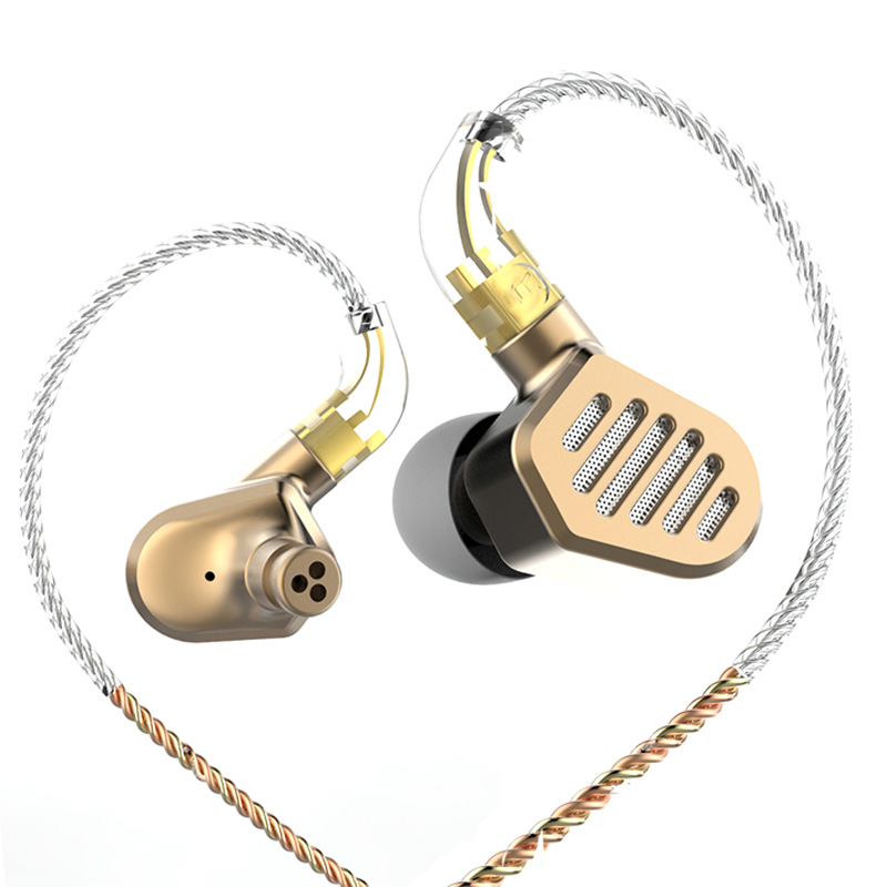 SENFER DT8 2BA+2DD Hybrid Drive Unit In Ear Earphone DJ HIFI Metal Earphone Sports Earphones With Detachable Detach MMCX Cable d3 earphone 2ba 1dd hifi hybrid earbuds stereo headphone in ear mmcx interface headset detachable cable dj monitor earphones