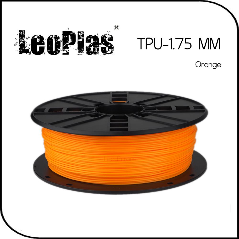 Prix pour Dans le monde entier Livraison Rapide Fabricant 3D Imprimante Matériel 1 kg 2.2lb Souple En Caoutchouc 1.75mm Flexible Orange TPU Filament