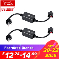 Oslamp H4 H7 H8 H11 H13 HB3 9005 HB4 9006 Canbus Wiring Harness Adapter LED Car