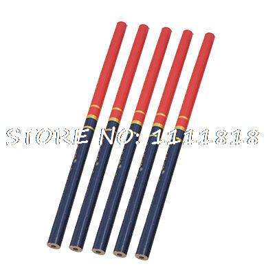 5Pcs Wooden Red Blue Mark Draw Carpenter Round Pencil