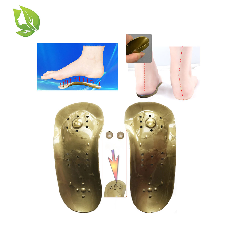 1 Pair Foot Massage Magnetic arch correction insoles care heel spur Magnetic Therapy arch suppport insoles Men/Women Shoe pad