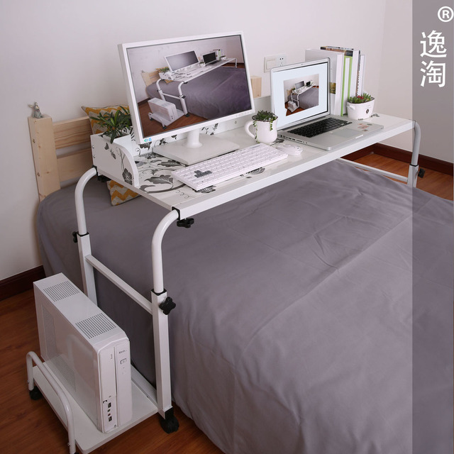 Yi Amoy Double Bed Nursing Desk Computer Desktop Landmark Bedside Tables Across Lazy