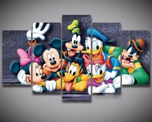 diy 5pcs mosaic full diamond embroidery cartoon Mickey and Minne 5D painting cross stitch square drill multi-pictures