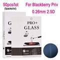 50 unids templado película protectora de cristal protector de la película para blackberry priv