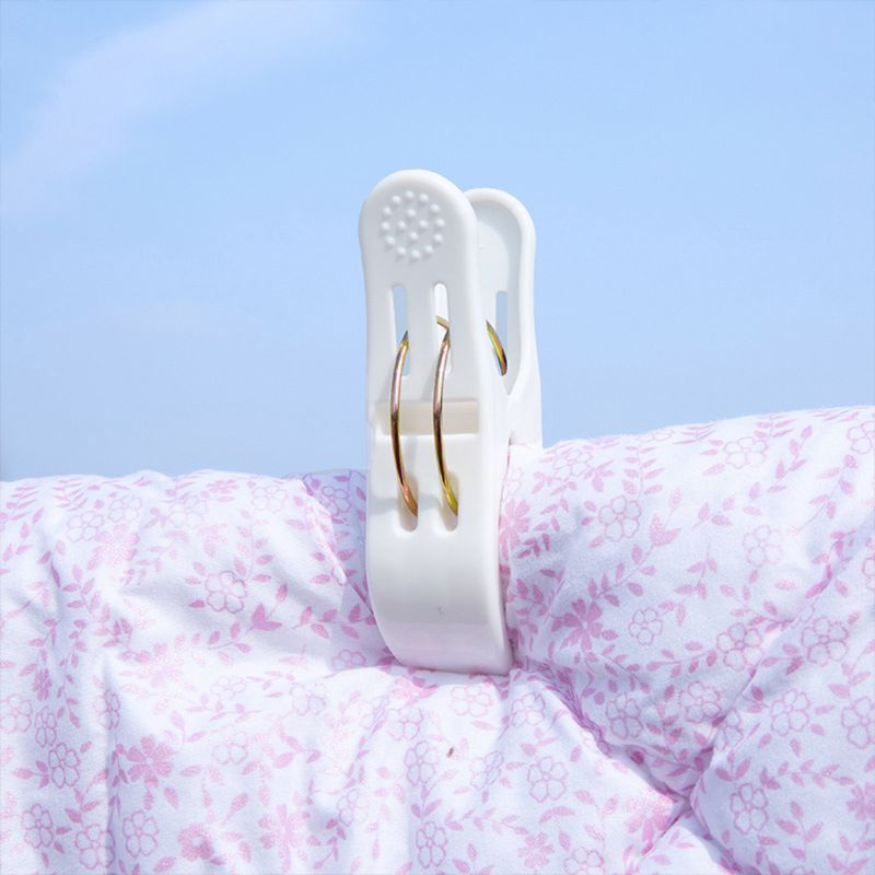 Image 3 - 2Pcs Large Powerful Windproof Clothes Hanging Peg Quilt Sheet Clothespin Sunbed Towel Clip Hanger Clamps-in Clothes Pegs from Home & Garden