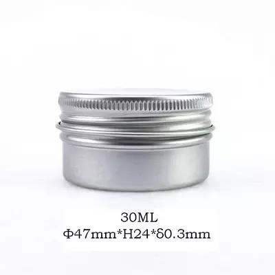 30g aluminum jars 1oz silver aluminum cream jars 30ml aluminum tin container 30ml aluminum tin can