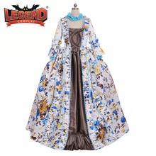 Бальное платье с цветочным узором, платье Рококо, индивидуальный заказ