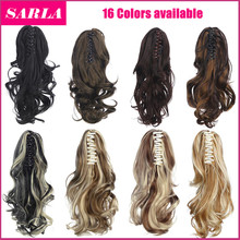 10pcs/lot Curlly Ponytail Hair Extensions Synthetic Pony Tail 30cm 125g Synthetic Claw In Ponytails Free Shipping Wholesale P004