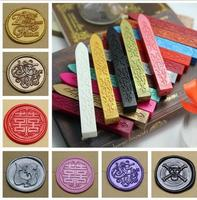 Free shipping 10 pieces Sealing Wax Coloured Wax Sticks Wedding Wax Colour Silver Gold Red Green Blue Pink White seal stamp use