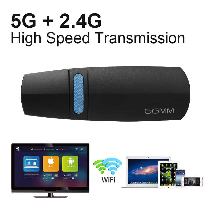 GGMM Mini HDMI Dongle TV Stick HD 1080P Wireless WiFi Dongle Display Miracast Support 5G/2.4G AirPlay DLNA for Video YouTube etc