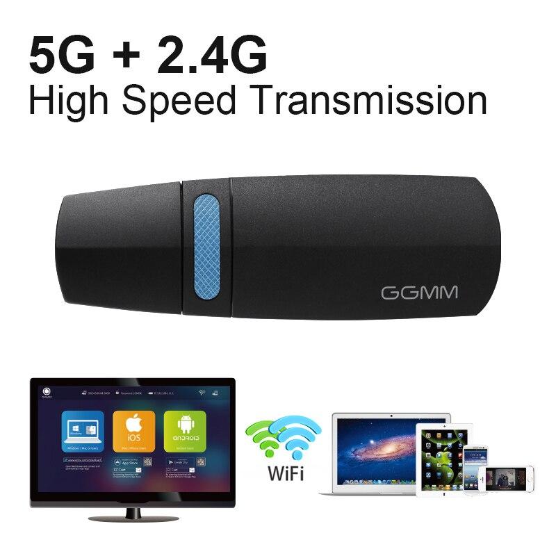 GGMM Sans Fil Wifi Dongle TV Bâton HDMI Sans Fil Miracast adaptateur TV Box mini TV Soutien Miracast AirPlay Ezcast DLNA 5G réseau