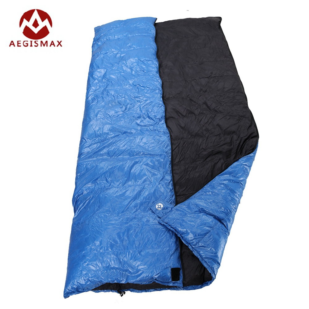 Aegismax Outdoor Envelope Sleeping Bag Splicing White Duck Down Single Sleeping Bag Camping Hiking Equipment Family