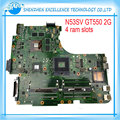 Original N53SV Motherboard For ASUS N53S N53SN N53SM With 4 RAM SLOT GT550M 2GB mainboard full test