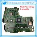 Placa madre para asus n53s n53sn n53sm n53sv originales con 4 ranura de memoria ram gt550m 2 gb mainboard prueba completa