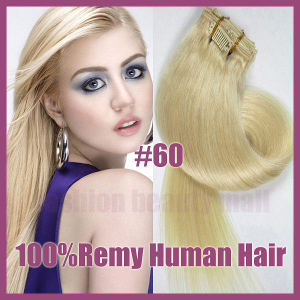 100 Brazilian Remy Straight Clip In Human Real Hair Extensions Full