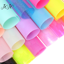 JOJO BOWS 22*30cm Transparent PVC Vinyl Fabric Synthetic Leather Sheets For DIY Hair Bows Handmade Shoes Bags Apparel Materials