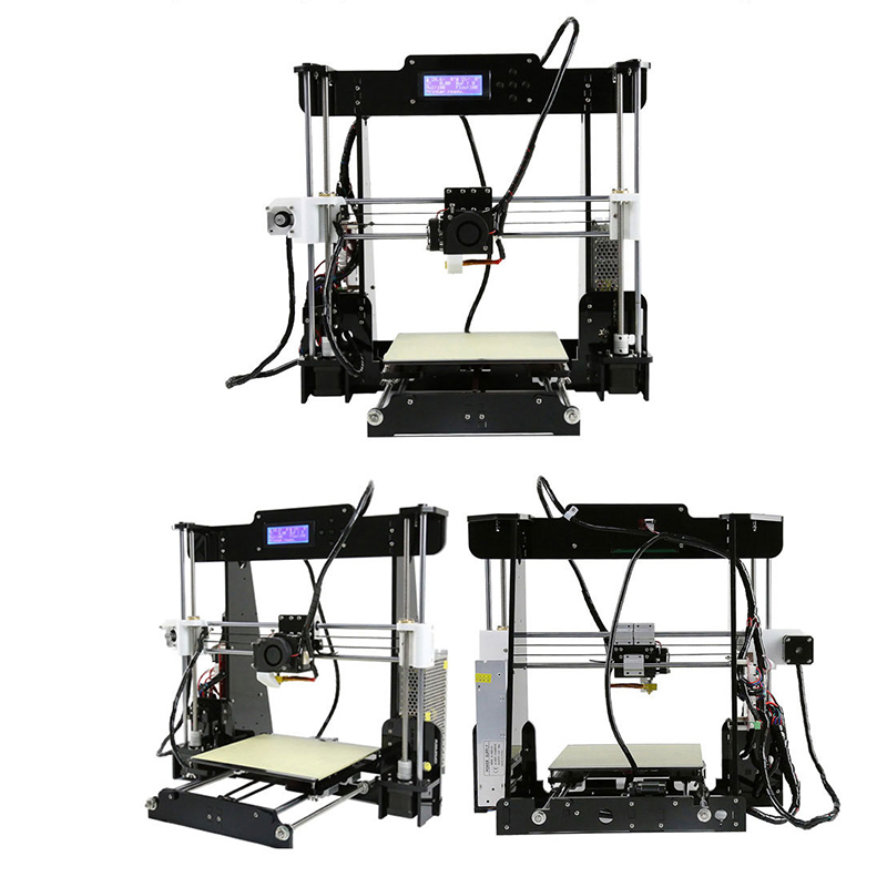 2019 Cheap Price 3d Printers Acrylic Frame Reprap Prusa i3 Anet A8 3d Printer Kit with Large Printing Size 220 20 240mm 2004 LCD in 3D Printers from Computer Office