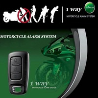 1 Way Motorcycle Scooter Moto Alarm System Motorbike Anti Theft Security Alarm Lock Wireless Remote Control