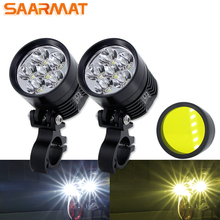 Double Colors led motorcycle headlight Fog DRL lamp led light car Universal Motorbike ATV bulb High Brightness Yellow white 12V