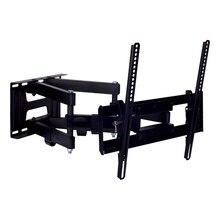 ТВ Кронштейн Kromax PIXIS-L new black (26-55 дюймов, max 50 кг, наклон +3°-10°, поворот 160°, от стены 75-500мм)