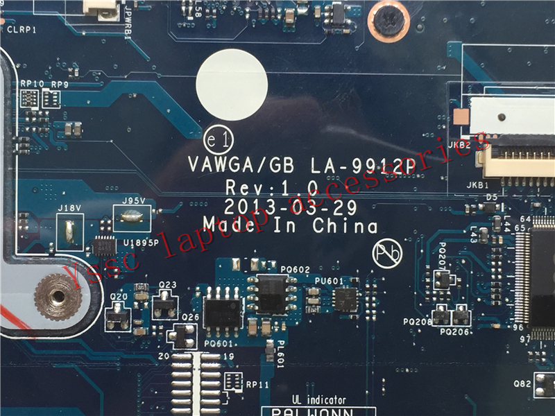 Free Shipping LA 9912P motherboard For Lenovo G505 Laptop motherboard For AMD E1 CPU Warranty 90