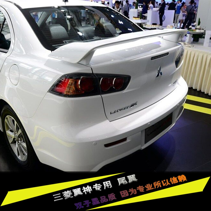 For LANCER EX Spoiler High Quality ABS Material Car Rear Wing Primer Color Rear Spoiler For Mitsubishi LANCER Spoiler 2010-2016 for lancer spoiler evo abs material car rear wing primer color rear spoiler for mitsubishi lancer evo spoiler 2010 2014