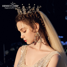 Baroque Wedding Hair Accessories Vintage Gold Leaf Headband Tiaras Crown Handmade Leaves Hairband Tiara Headpiece Head Jewelry