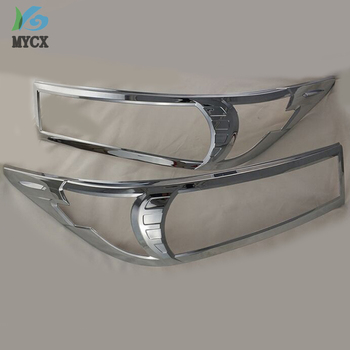 2016-2019 Chrome Front Lights Cover For Toyota Ki Jang Innova Chrome ABS Headlights Cover Parts For Toyota Innova 2pcs image