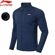 Li-Ning мужской тренировочный свитер, теплая оболочка, удобный, обычный крой, хлопок, полиэстер, подкладка, Спортивная Толстовка, AWDN865 MWW1450