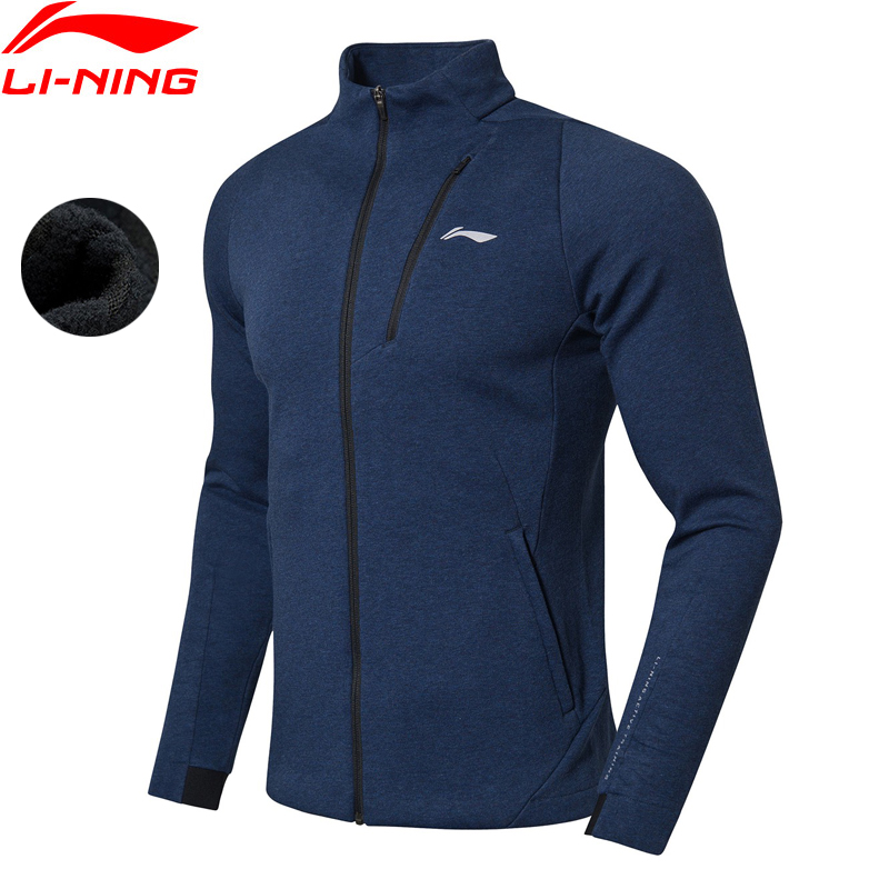 Li-Ning Men Training Series Sweater WARM SHELL Comfortable Regular Fit Cotton Polyester LiNing Sports Hoodie AWDN865 MWW1450