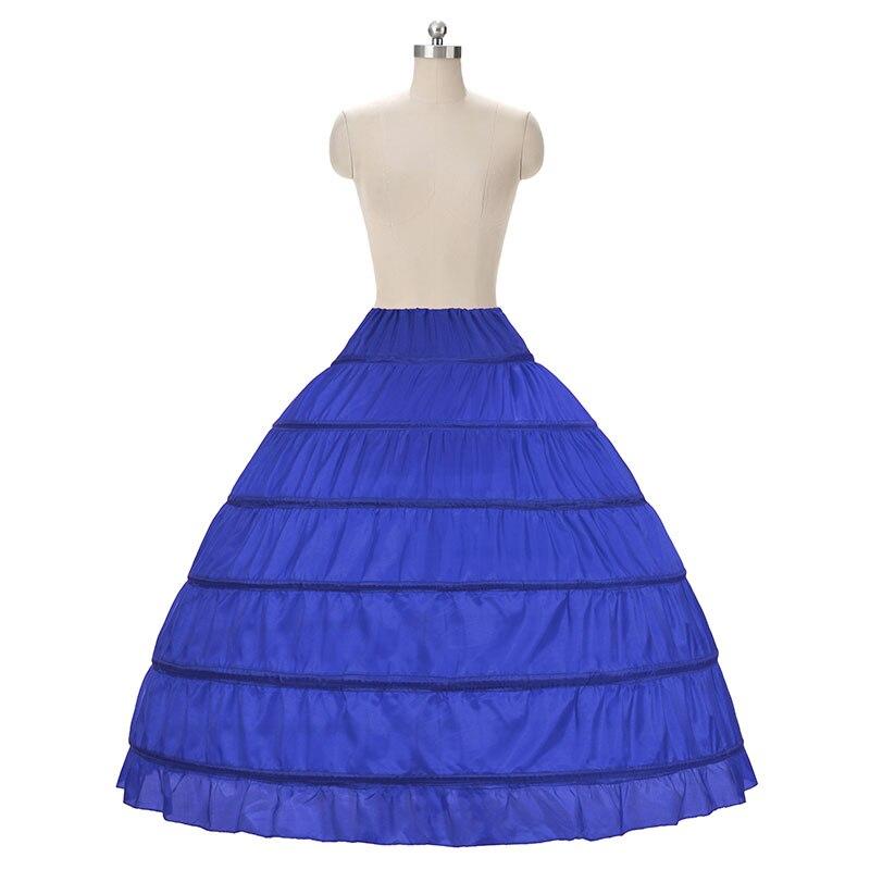 2018 HOT koop 6 Hoop Petticoat Onderrok Voor Baljurk Trouwjurk - Bruiloft accessoires - Foto 4