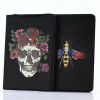 Fashion Case For IPad Pro 9 7 3D Wolf Butterfly Skull Cover Flip For Ipad 5