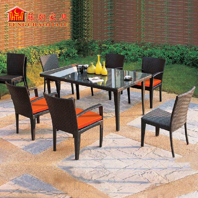 outdoor furniture garden furniture villa rattan outdoor cafe table and chairs courtyard balcony casual wicker - Garden Furniture Tables